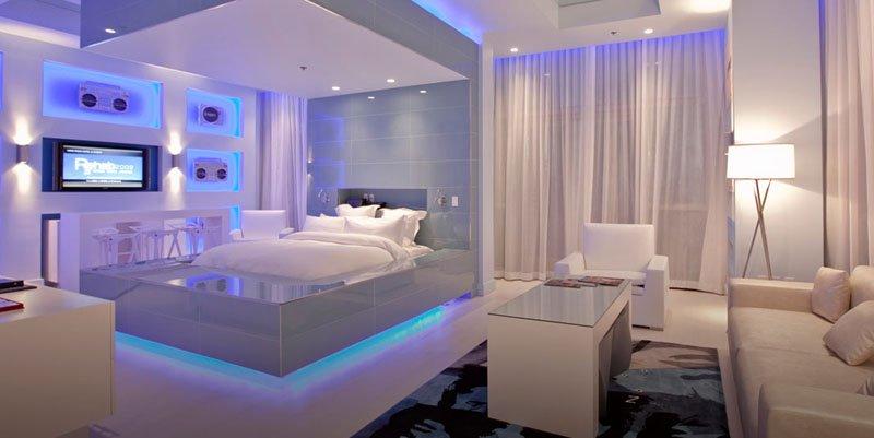 LED lighting under bed