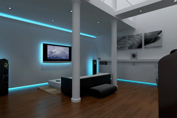 LED lighting in the living room