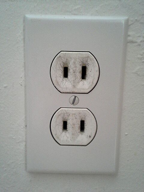 two-prong electrical outlet