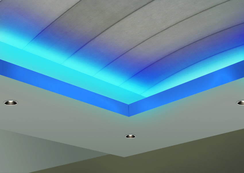 Cove lighting in home theather