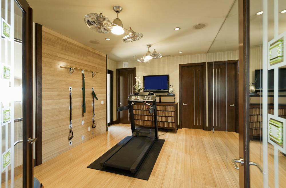 Home gym lighting for increased energy and mood